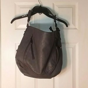 Jessica Simpson Gray Large Faux Leather purse